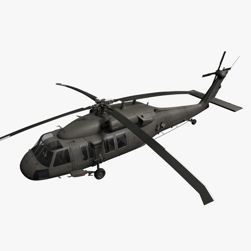 3d model generic blackhawk black hawk