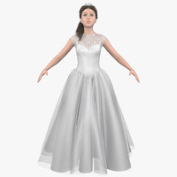 3d hair cloth female character