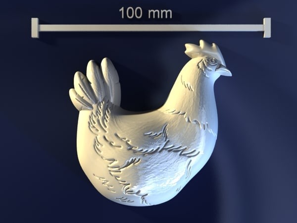3d chicken mold hand model