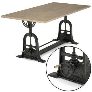 3d max dublin adjustable table design