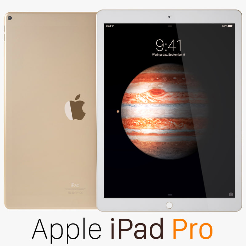 3d apple ipad pro gold