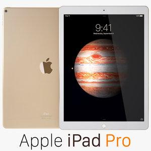 3d apple ipad pro gold