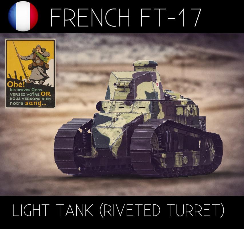 x renault ft17 light tank
