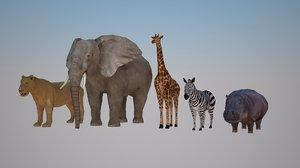 3ds safari animals