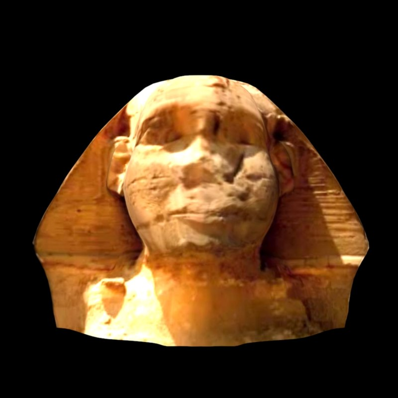 sphinx s head 3d model