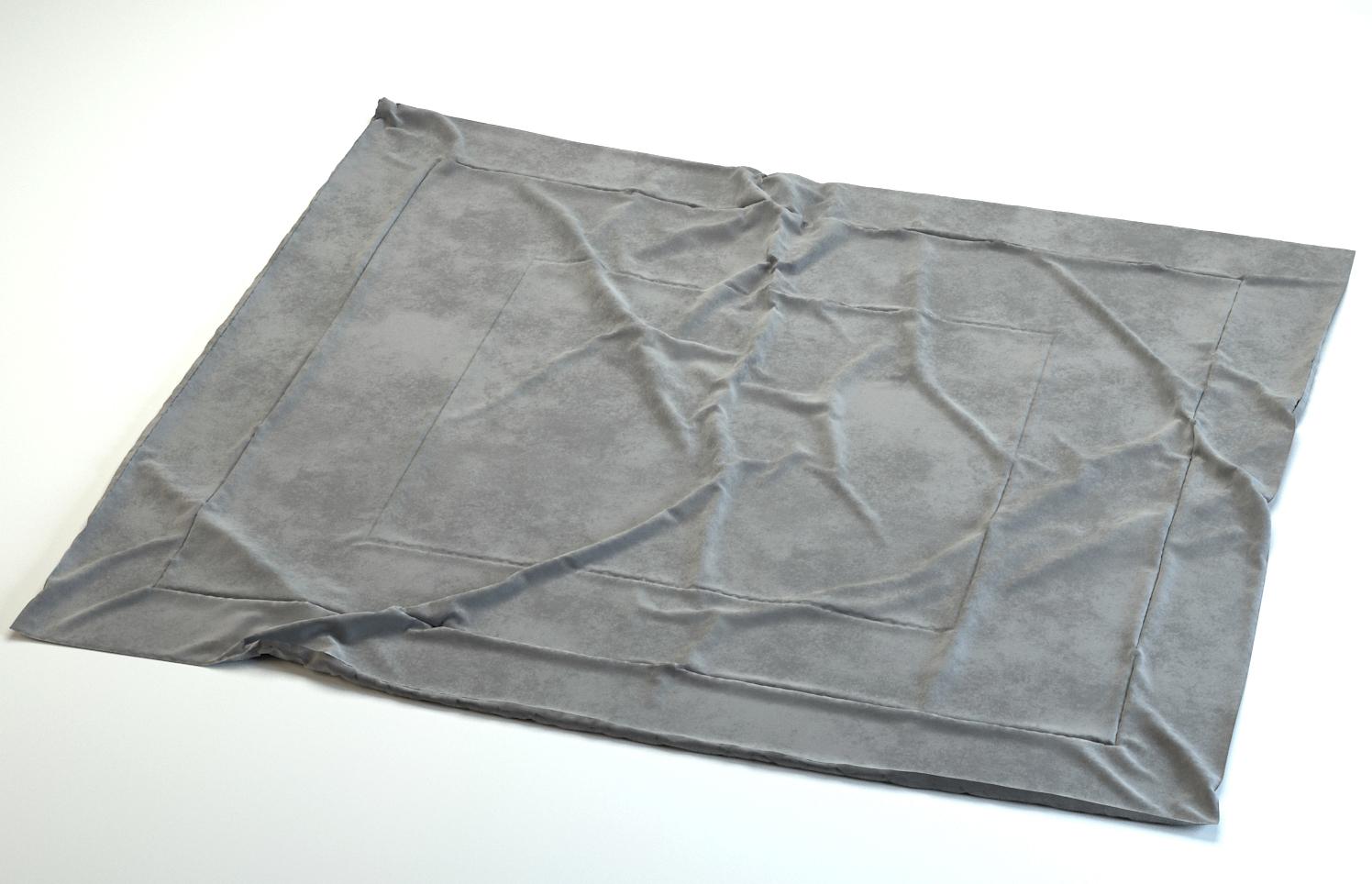 3d photo realistic rug wrinkles