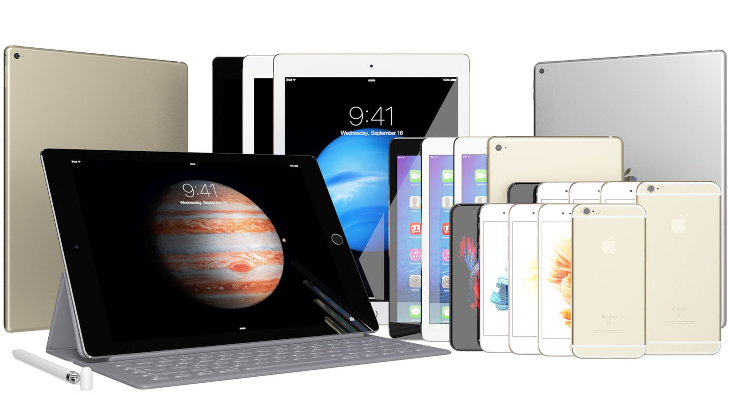 max realistic apple ipad iphone