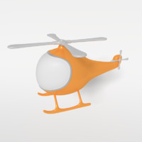 cartoon helicopter 3ds