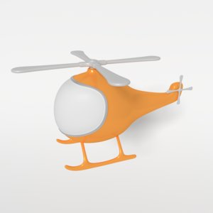 cartoon helicopter obj