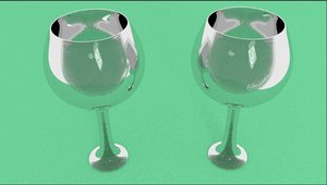 3d model wine glasses