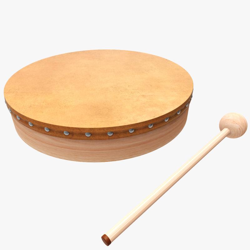 3d drum tambour