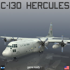 3d model lockheed c-130 hercules