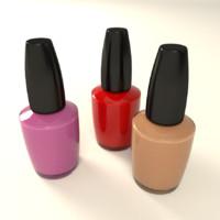 3d nail polish model
