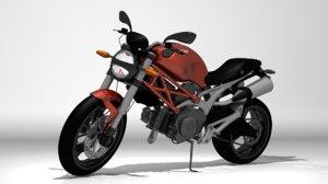 motorcycle ducati monster 696 3d model