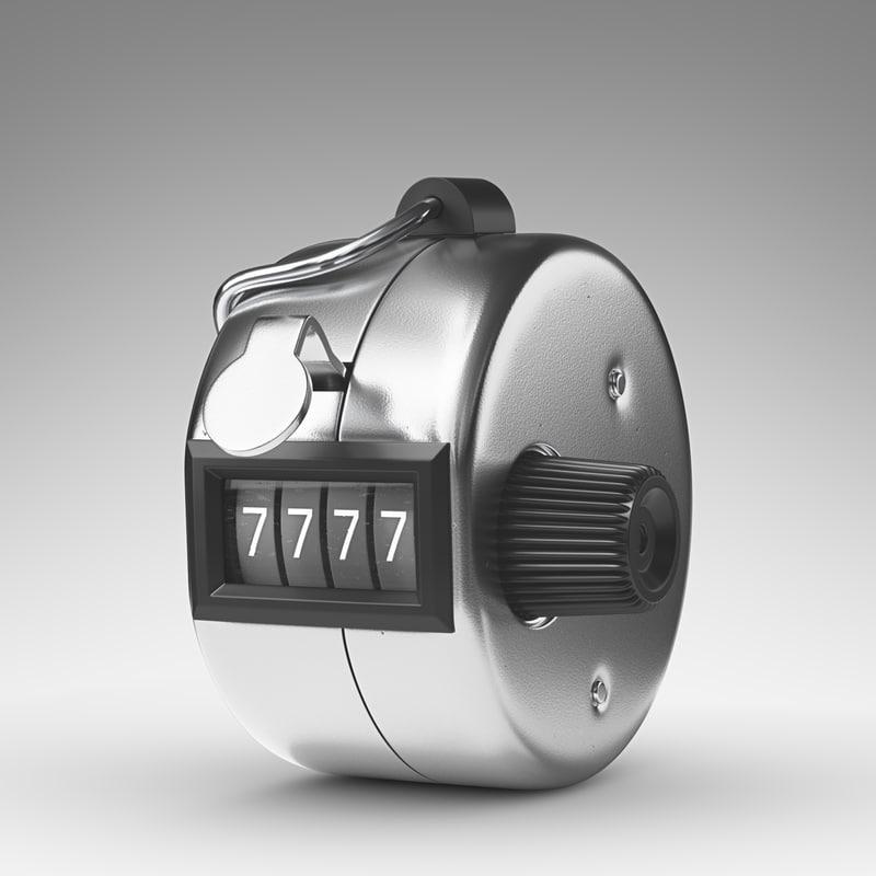 3d model hand tally counter