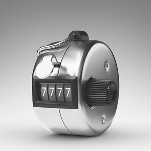 3d model hand tally counter