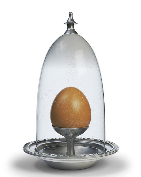 3d model silver eggcup