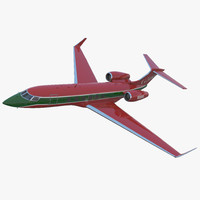 Business Jet Gulfstream G500 2 Rigged 3D Model