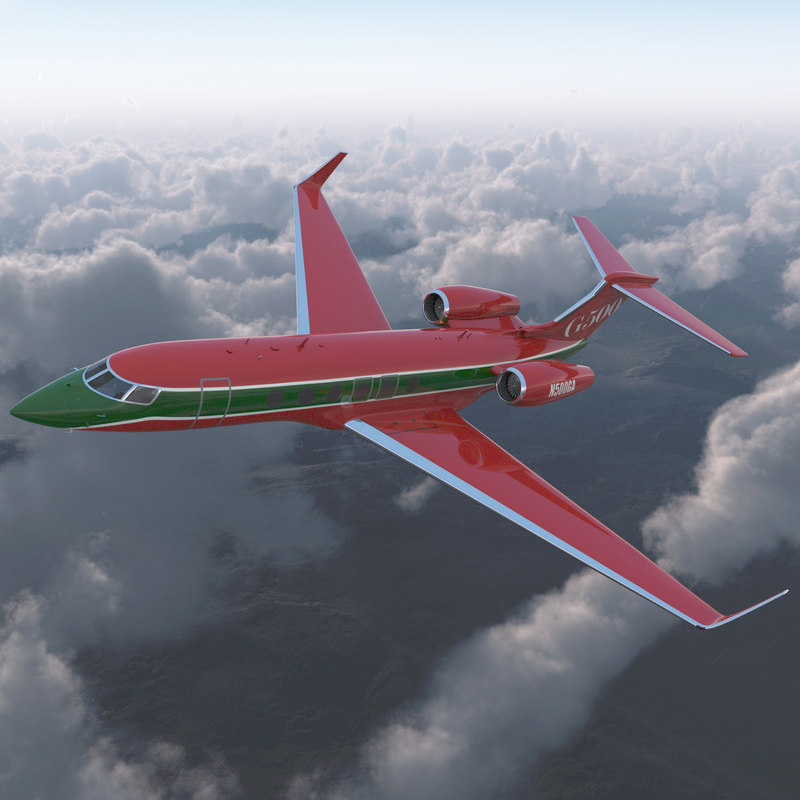 3d model business jet gulfstream g500
