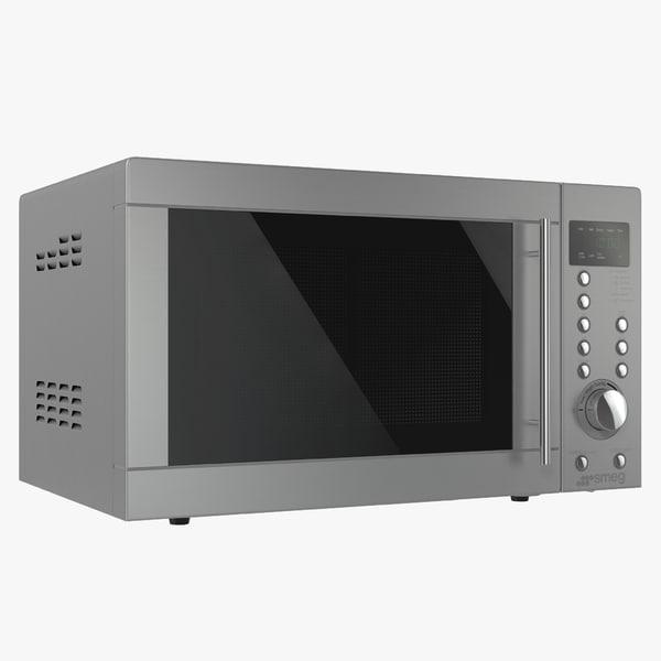 3dsmax microwave oven 4 smeg