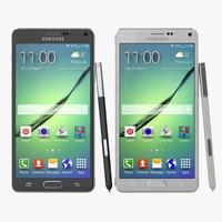 Samsung Galaxy Note 4 3D Models Set