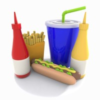 cartoon hot dog 3d model