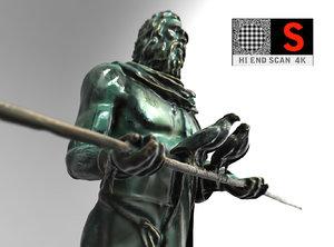 3ds max sculpture monument figure guanchen