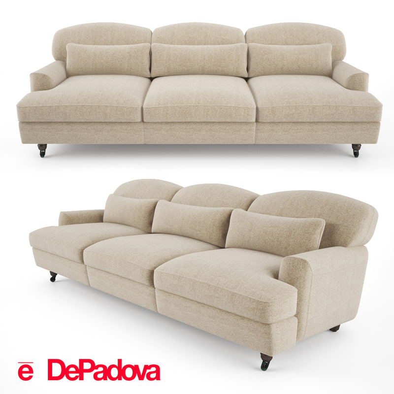 3d model padova - raffles sofa
