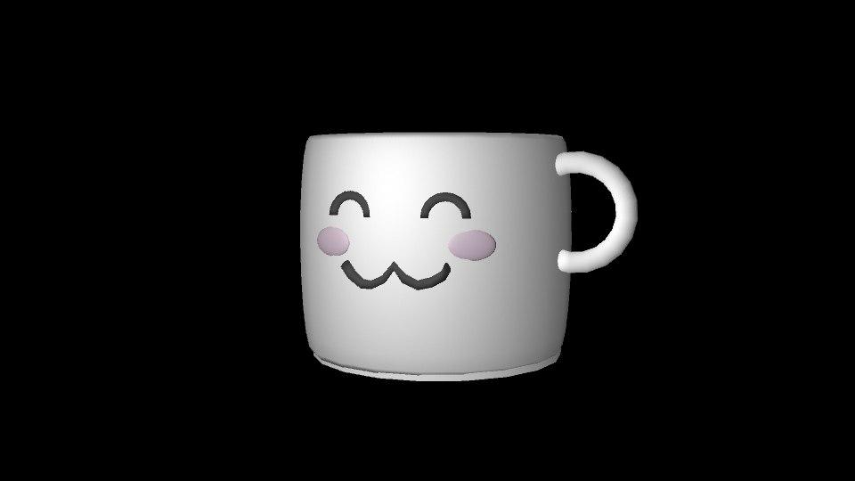 3d mug smiling