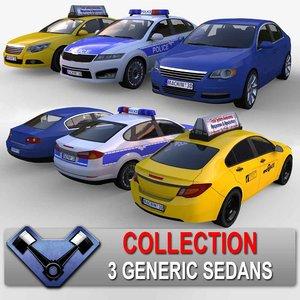 generic sedan 3d 3ds