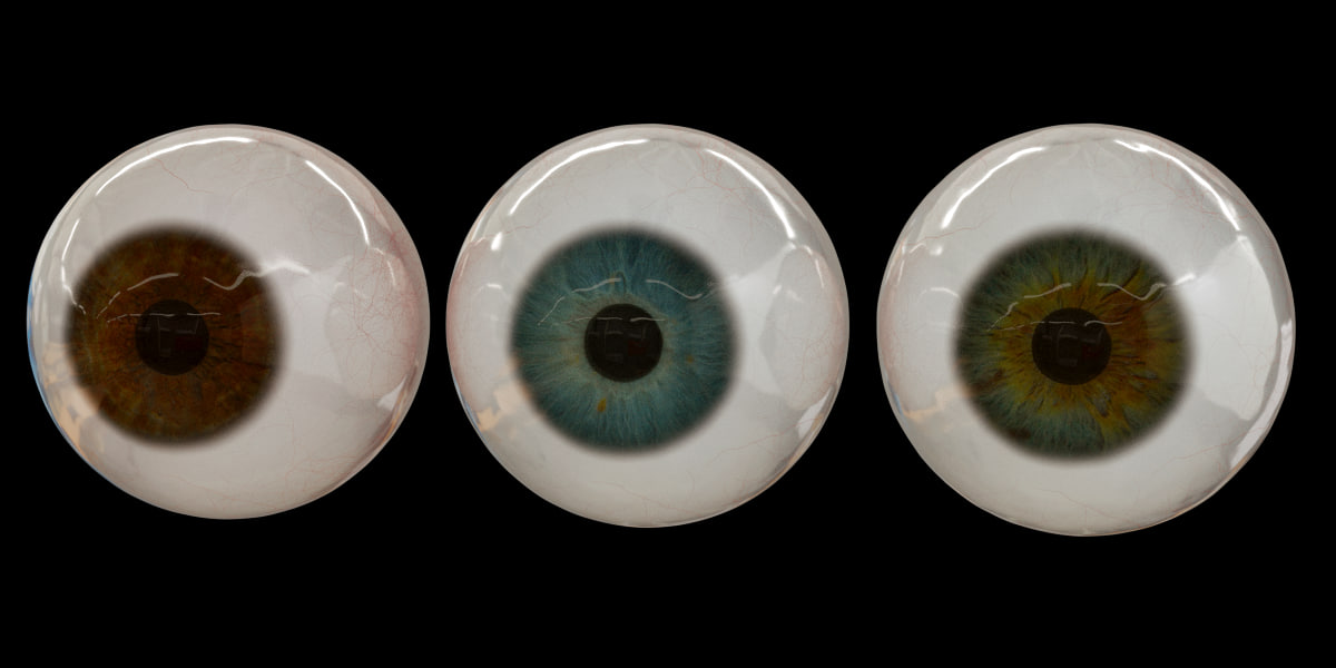 3ds photorealistic human eye set