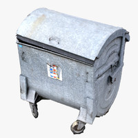3d model of refuse bin scan