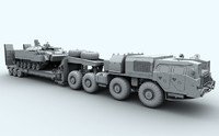 maz-7410 uragan trailer 3d obj