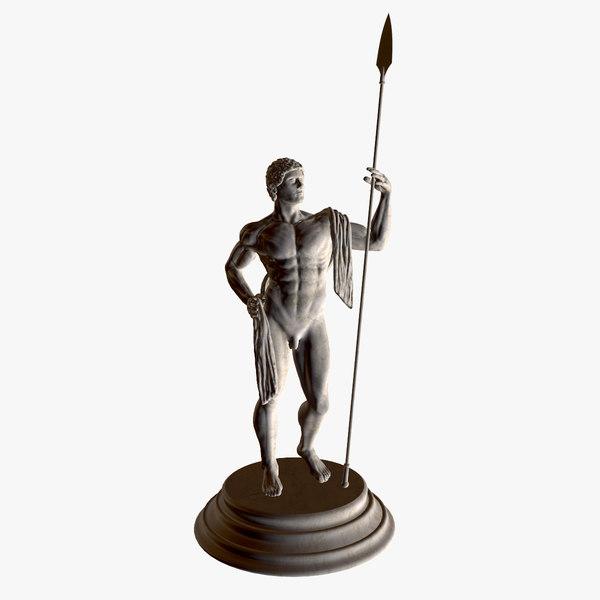 3d classic statue warrior