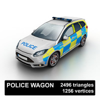 Low Poly Police Wagon UK