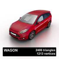 3d model wagon traffic games