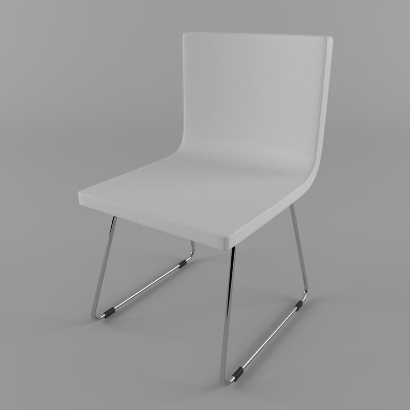 3d model chair leather bernhard