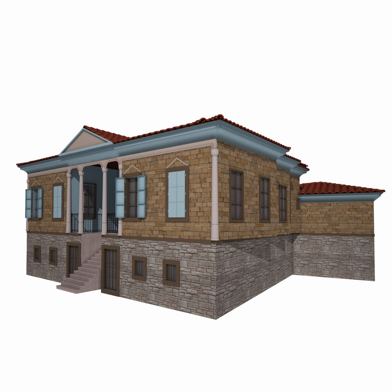 traditional ottoman house isparta 3d model