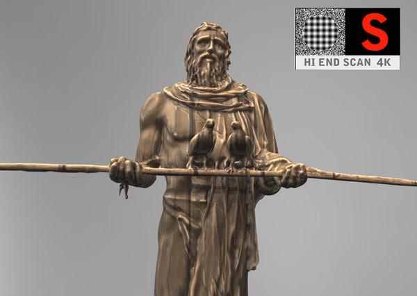 sculpture monument guanchen obj