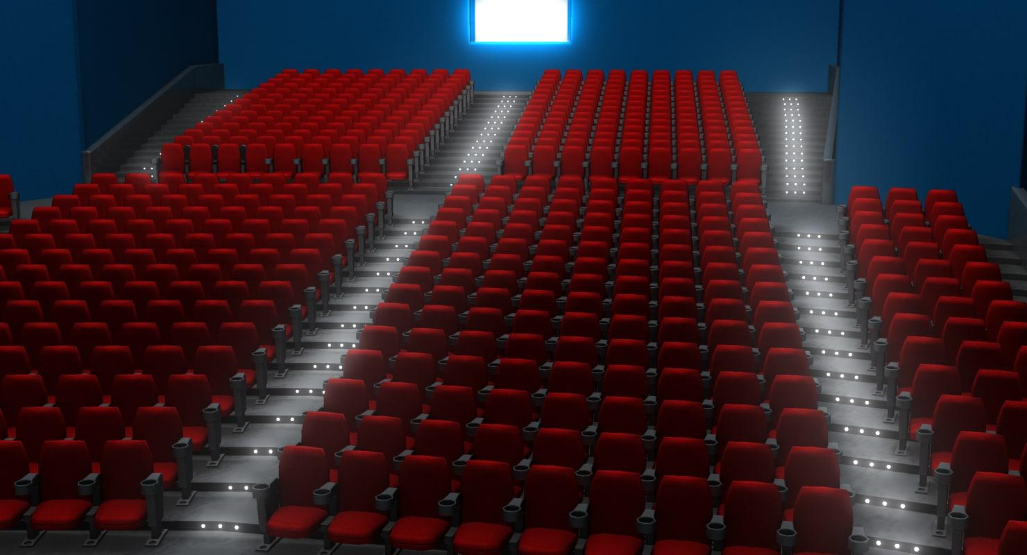 3d movie theater model