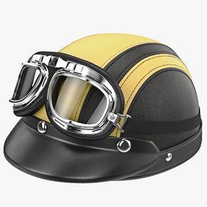 3d model helmet goggles