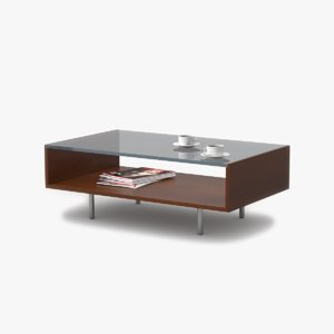 coffee table cherry wood 3d 3ds