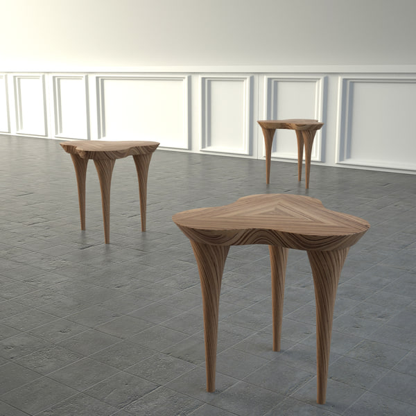 trifoglio small table 3d max