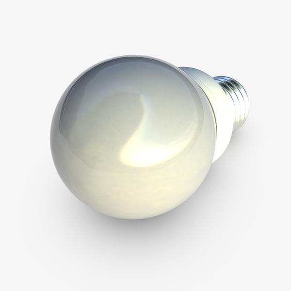 3d model spherical bulb e27