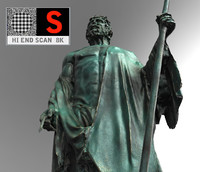 sculpture monument figure 3d model