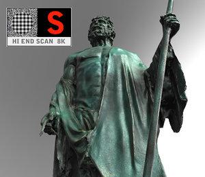 sculpture monument figure 3d model