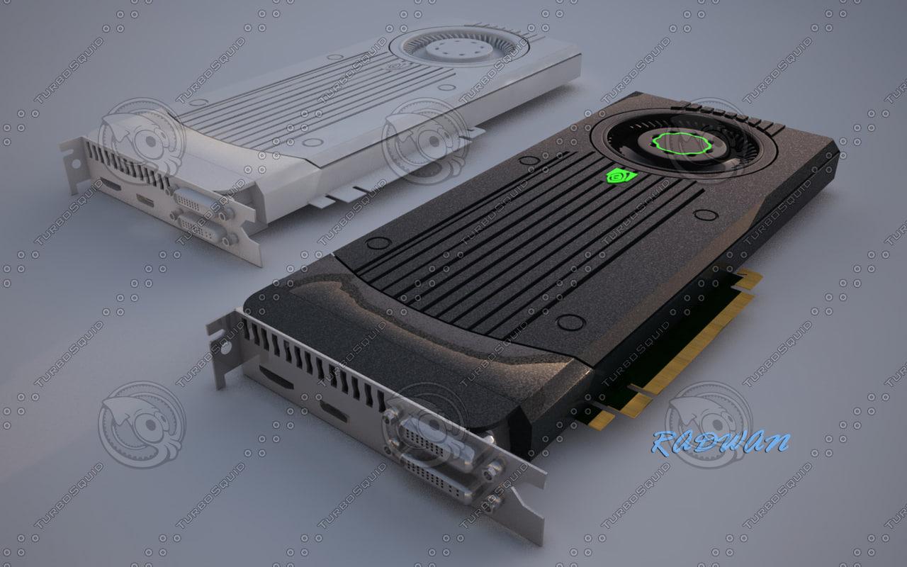 3d model nvidia graphic card