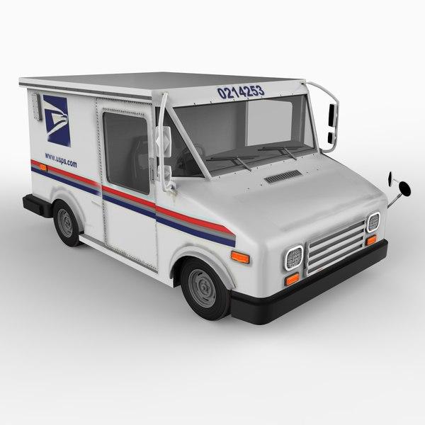 grumman usps mail 3d model