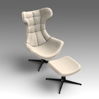3d leather swivel chair model