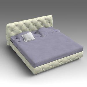 leather bed 3d fbx